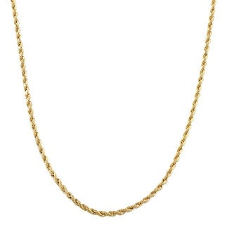 Fremada 10k Yellow Gold 1.45-mm Solid Rope Chain
