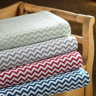 Luxury German Chevron Flannel Sheet Sets or Pillowcase Separates