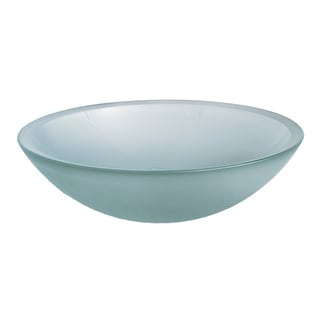 Dorian Console Clear Frosted Glass Vessel Sink