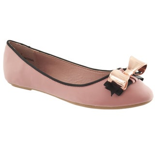 Riverberry Women's 'Sami' Mauve Bow-detail Ballet Flats