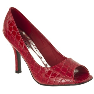 Riverberry Women's 'Shelly' Peep-toe Pumps