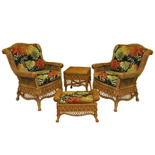 RoyInternational Caravan Wicker Chair Set (Includes Cushions)