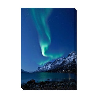 Aurora Borealis in Norway Oversized Gallery Wrapped Canvas