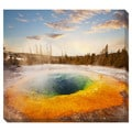 Yellowstone Morning Glory Oversized Gallery Wrapped Canvas