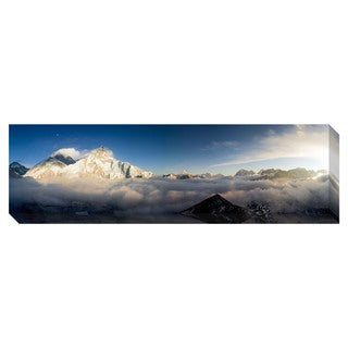 Panorama of Everest and Nuptse Oversized Gallery Wrapped Canvas