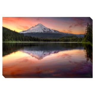 Mount Hood Reflection Oversized Gallery Wrapped Canvas