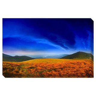 Colorful Mountain Landscape Oversized Gallery Wrapped Canvas