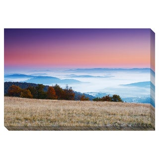 Morning Mountain Calm Oversized Gallery Wrapped Canvas
