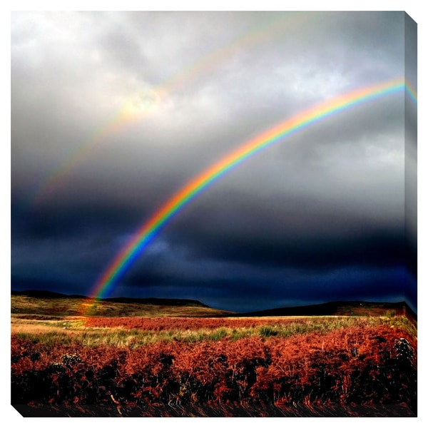 Gallery Direct Landscape Rainbow Oversized Gallery Wrapped Canvas