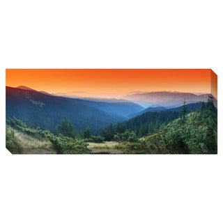 Morning Mountain Panoramic Oversized Gallery Wrapped Canvas
