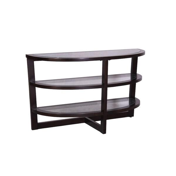 Milan Wengue 3-shelf Console Table