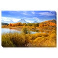 Grand Tetons from Oxbow Bend Oversized Gallery Wrapped Canvas