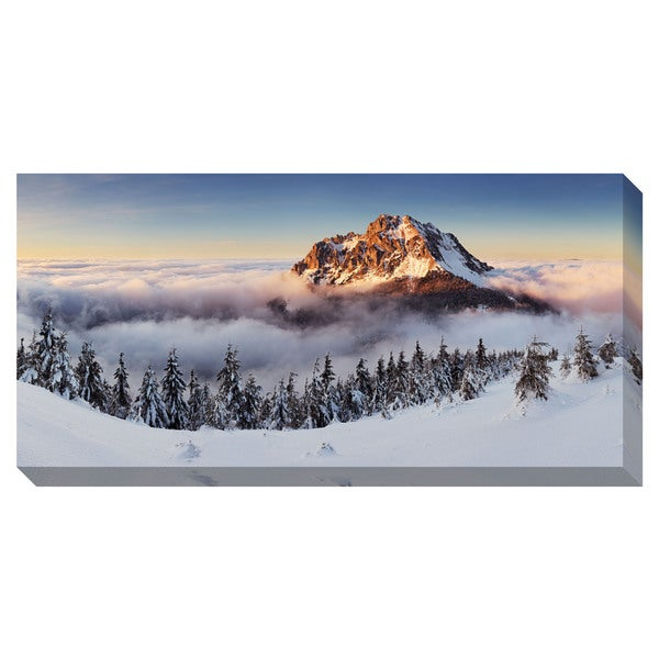 Winter Mountain Peak Oversized Gallery Wrapped Canvas