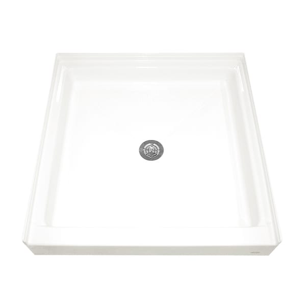 Single Threshold White Shower Base