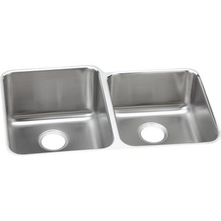Elkay Gourmet (Lusterstone) Stainless Steel 60/40 Double Bowl Undermount Sink