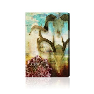 Oliver Gal Artist Co. 'Rams and Bloom' Canvas Print