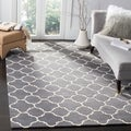 Handmade Moroccan Dark Grey Wool Lattice Rug (8'9 x 12')