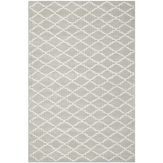 "Contemporary Handmade Moroccan Gray Wool Rug (8'9"" x 12')"