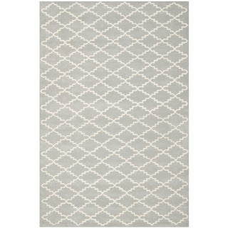 Contemporary Handmade Moroccan Gray Wool Rug (8'9
