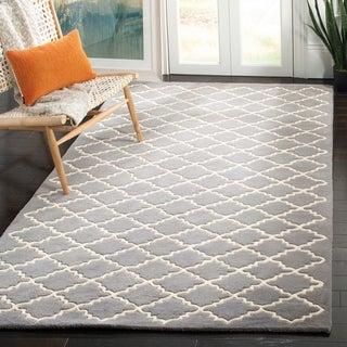 Safavieh Handmade Moroccan Dark Grey Wool Geometric Rug (8'9 x 12')