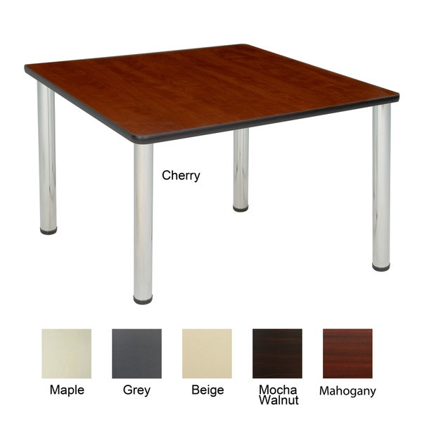 Square Table Legs : 36-inch Square Table with Chrome Post Legs