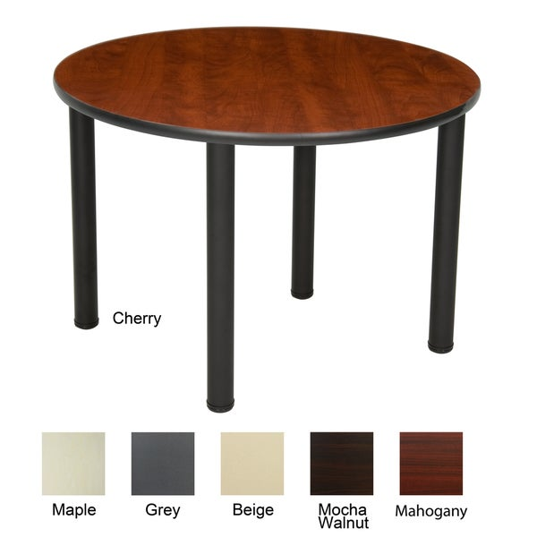 36 Inch Round Table With Black Post Legs 15151654