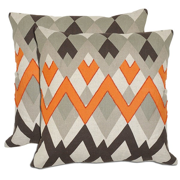 Bella ZigZag Linen Throw Pillows (Set of 2)