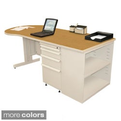Marvel Zapf Office Desk with Built-in Bookcase (75 x 30)