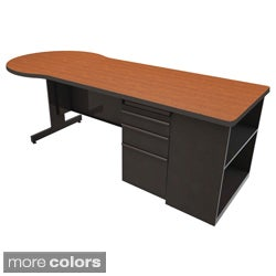 Marvel Zapf Office Desk with Built in Bookcase (87 x 30)