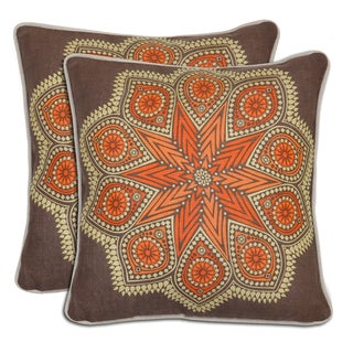 Villa Star Linen Throw Pillows (Set of 2)