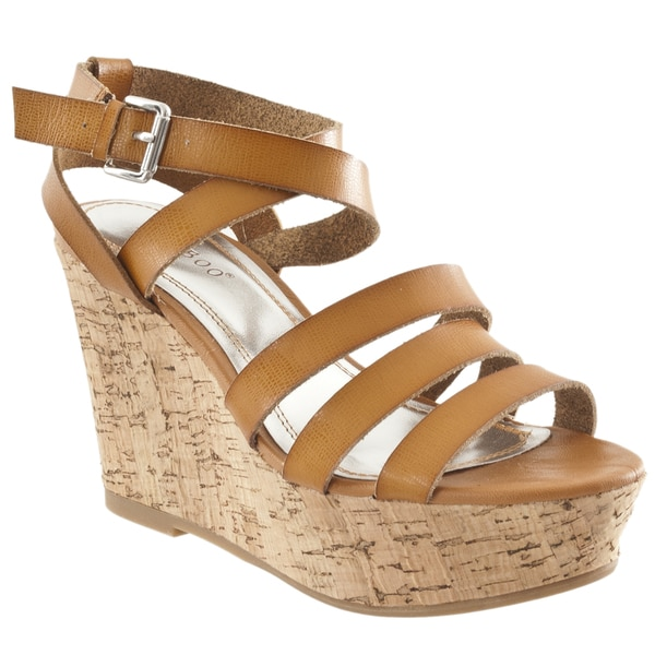 Riverberry Women's 'Pippa' Chestnut Strappy Wedge Sandals