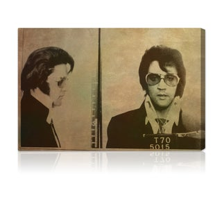 Oliver Gal Artist Co. 'Elvis Mugshot' Canvas Print