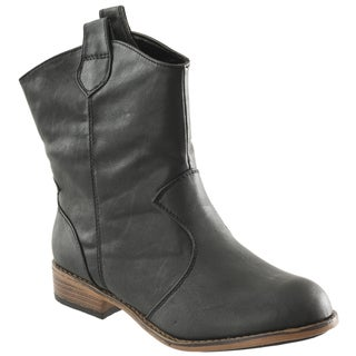 Riverberry Women's 'Parksville' Black Mid-calf Western-style Boots