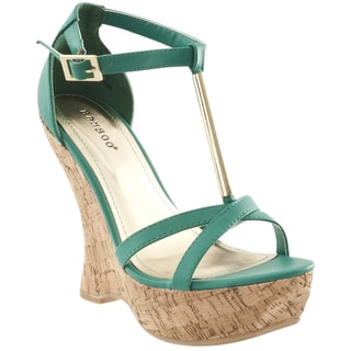 Riverberry Women's 'Slimmer' T-strap Wedge Sandals