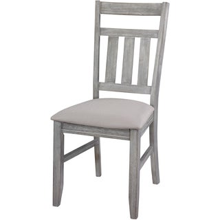 Powell Turino Grey Oak Cushioned Dining Side Chair (Set of 2)