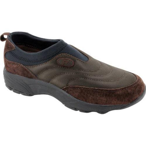 Men's Propet Wash & Wear Slip-on Nylon Brownie/Black