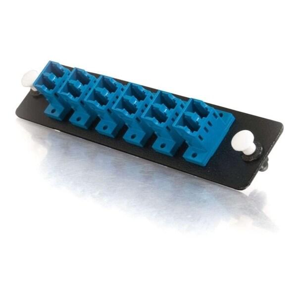 C2G Quiktron Q-Series 12-Strand LC Duplex Zirconia Insert SM, Blue LC