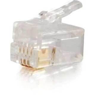 C2G RJ22 4x4 Modular Plug for Flat Stranded Cable