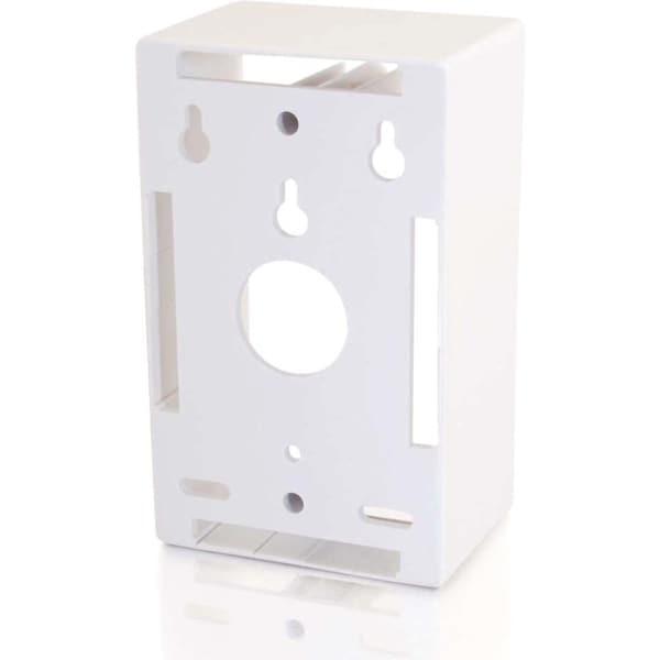 C2G Single Gang Wall Box - White
