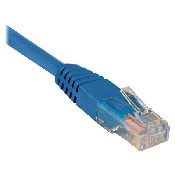 Tripp Lite 2ft Cat5e / Cat5 350MHz Molded Patch Cable RJ45 M/M Blue 2