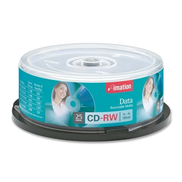 Imation CD Rewritable Media - CD-RW - 4x - 700 MB - 25 Pack Spindle -