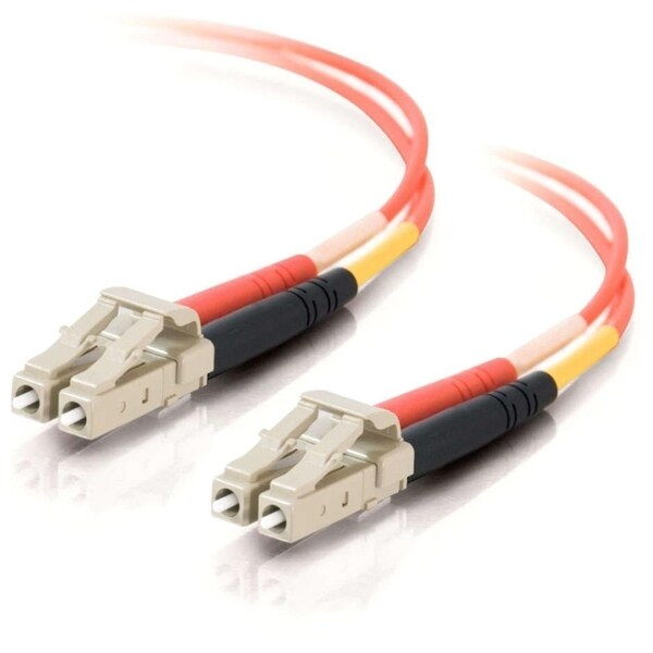 5m LC-LC 62.5/125 OM1 Duplex Multimode Fiber Optic Cable (Plenum-Rate