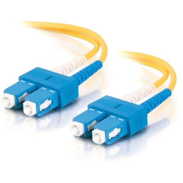 1m SC-SC 9/125 OS1 Duplex Singlemode PVC Fiber Optic Cable (LSZH) - Y