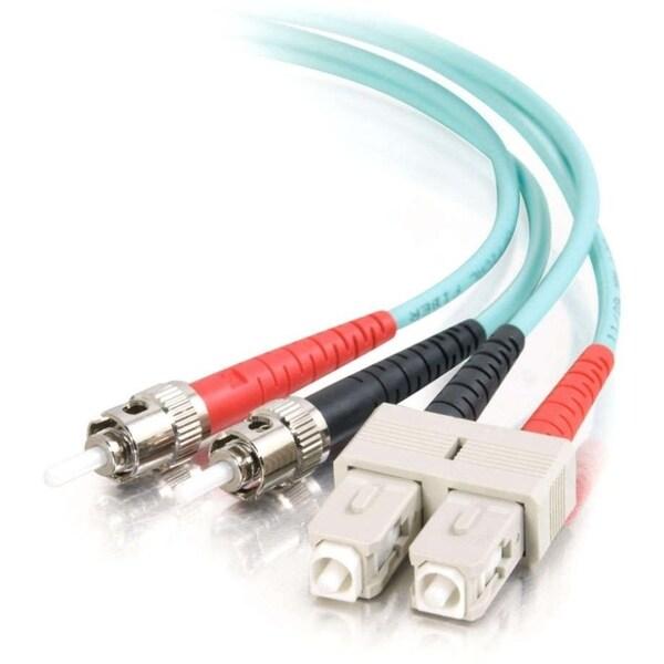 3m SC-ST 10Gb 50/125 OM3 Duplex Multimode PVC Fiber Optic Cable - Aqu