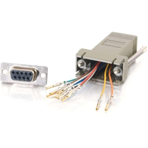 C2G 10-pin RJ45 to DB9 Female Modular Adapter