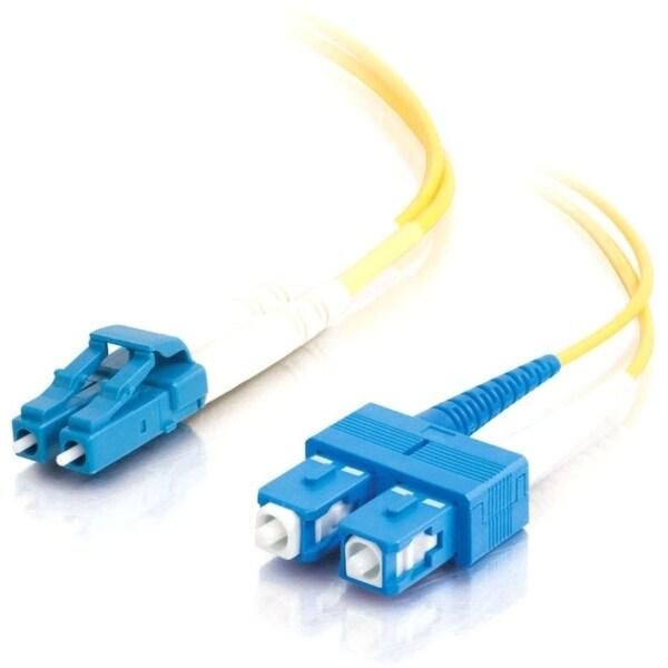 15m LC-SC 9/125 OS1 Duplex Singlemode PVC Fiber Optic Cable (LSZH) -