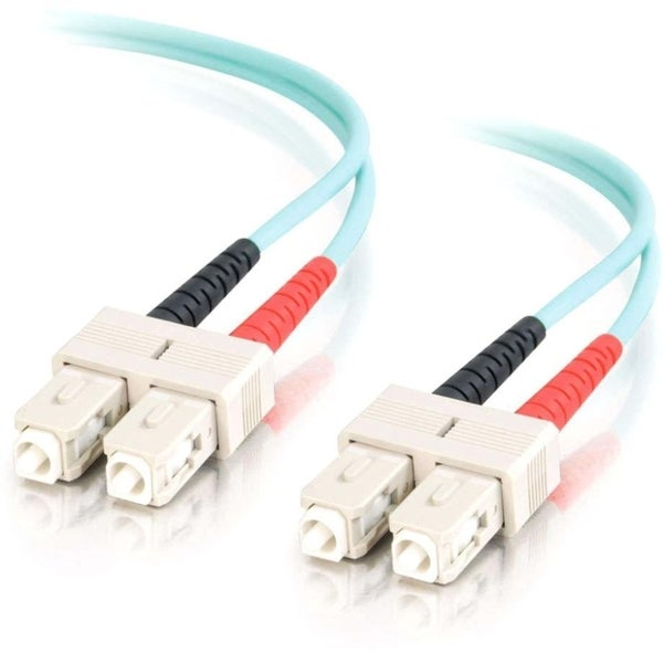 1m SC-SC 10Gb 50/125 OM3 Duplex Multimode PVC Fiber Optic Cable (LSZH