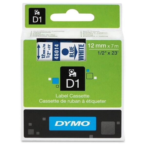 Dymo Blue on White D1 Label Tape