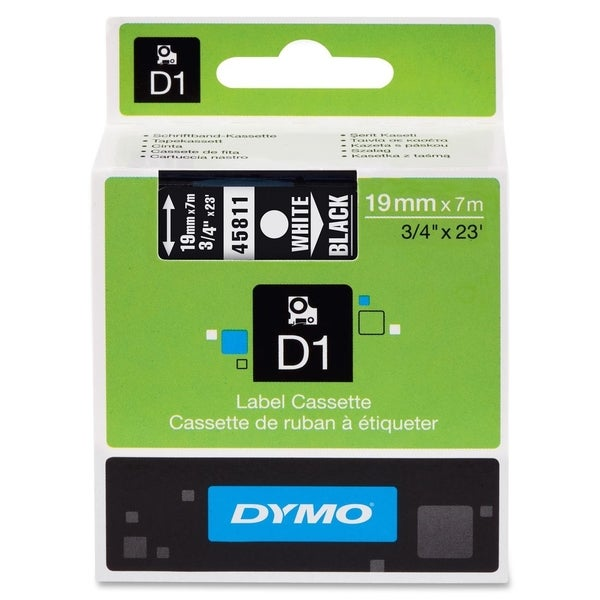 Dymo White on Black D1 Label Tape