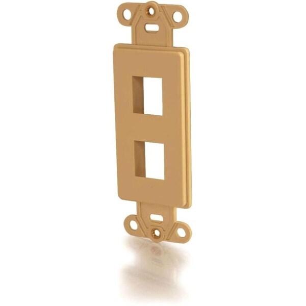C2G Decora Style 2-Port Multimedia Keystone Insert - Ivory